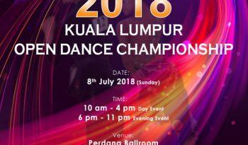 Kuala Lumpur Open Dance Championship 2018 Poster
