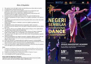 Negeri Sembilan International Dance Championship 2018 Entry Form 1