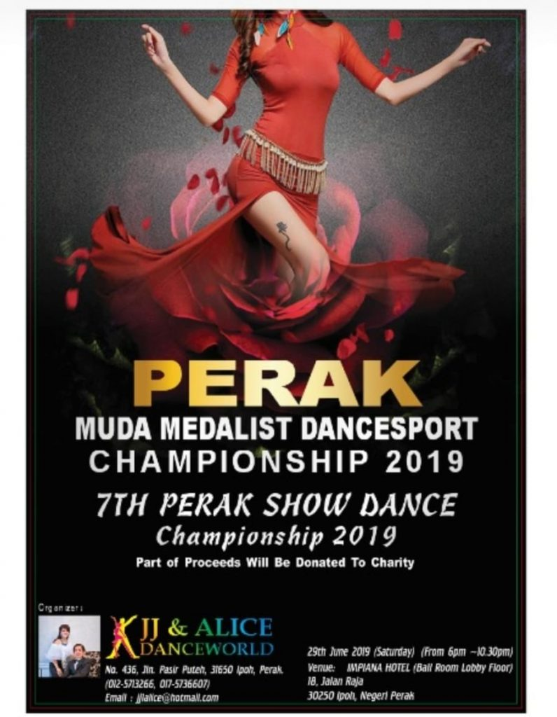 Perak Muda Medalist Dancesport Championship 2019