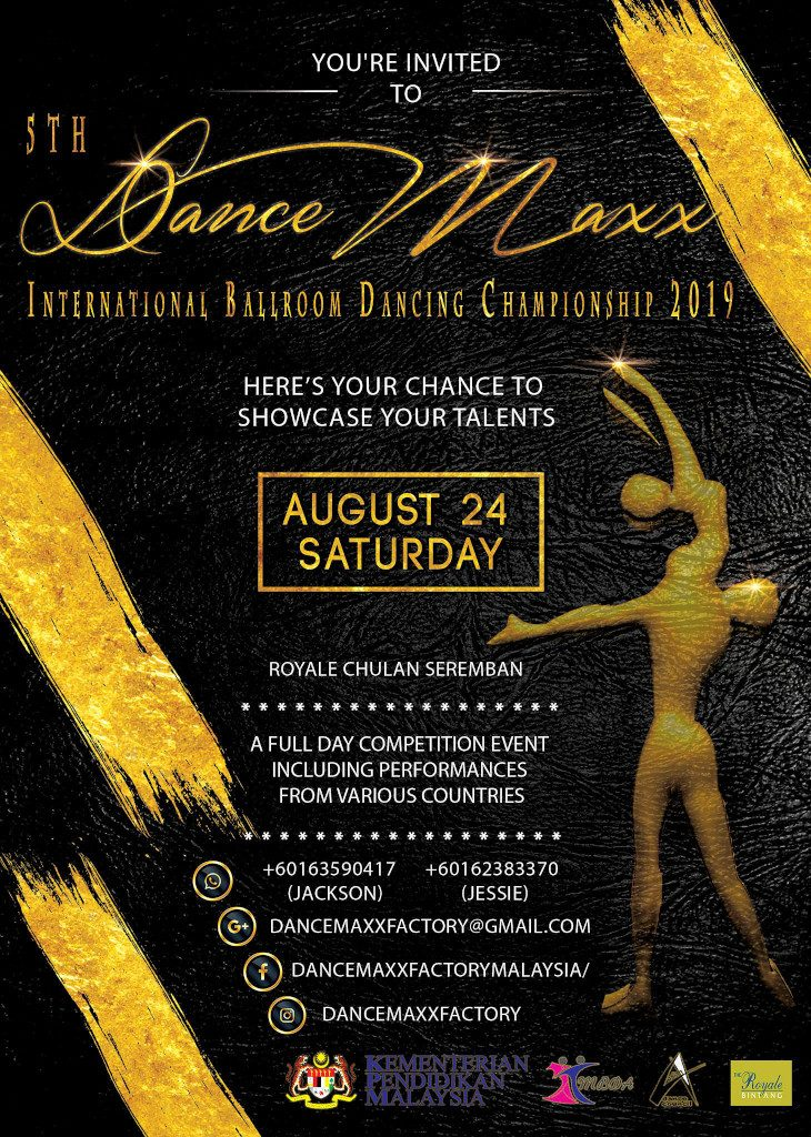 5th DanceMaxx International Ballroom Dancing Championship 2019 Poster