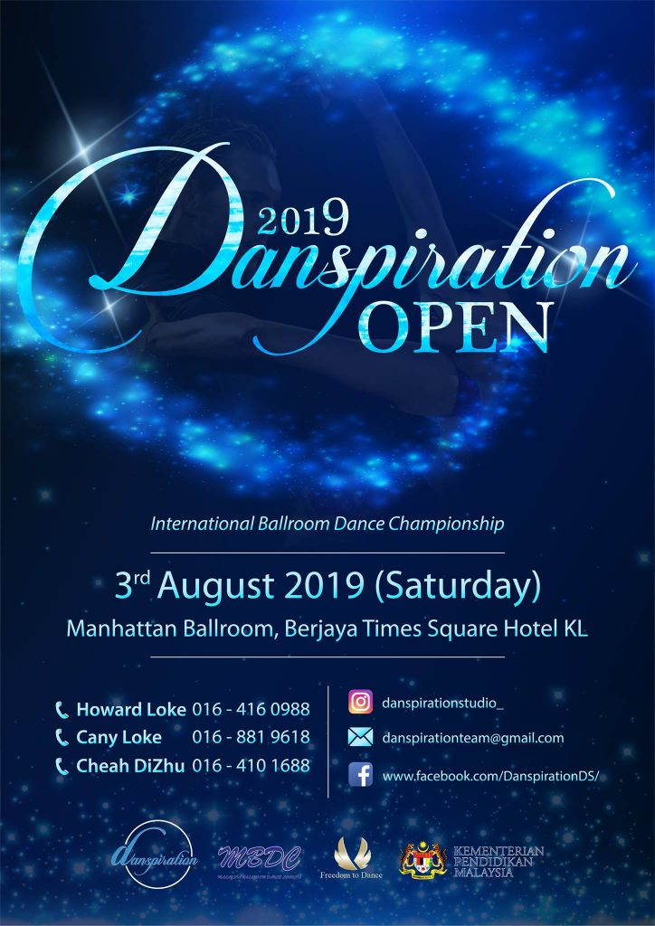 2019 Danspiration Open Poster