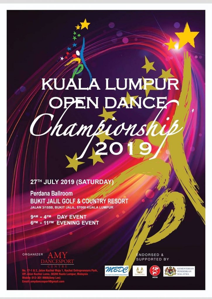 Kuala Lumpur Open Dance Championship 2019 Poster