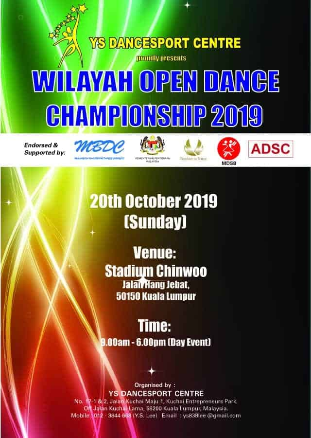 Wilayah Open Dance Championship 2019 Poster
